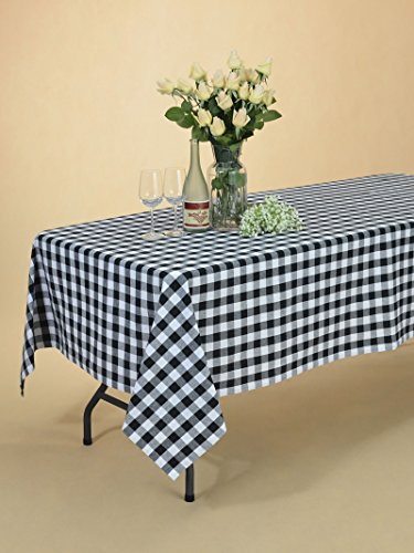 veeyoo 60 x 120 inch 152 x 305 cm rectangular 100 cotton plaid tablecloth gingham for home. Black Bedroom Furniture Sets. Home Design Ideas