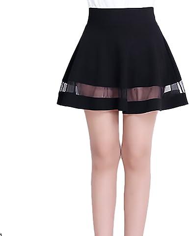HX fashion Faldas Cortas Mujer Elegantes Sencillos Diario Hilado ...