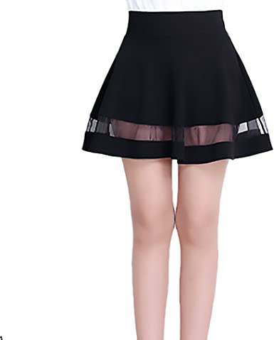 Faldas Mujer Elegantes Moda Hilado Neto Splicing Alto Niñas Ropa ...