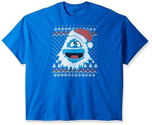 Rudolph Men's Big and Tall Ugly Christmas T-Shirt B&T, Royal, 3X-Large (Go Ugly T-shirts)