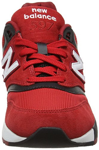 New Balance Men's 597 Low-Top Sneakers, Red/Black/White Red/Black