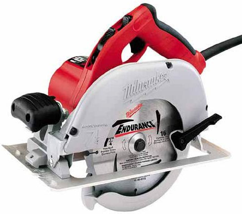 Milwaukee Electric Tool 6391-21 - Top Handle Top Handle Corded Circular Saw, Power Rating: 15A, Voltage: 120V ac/dc, Amperage: 15A