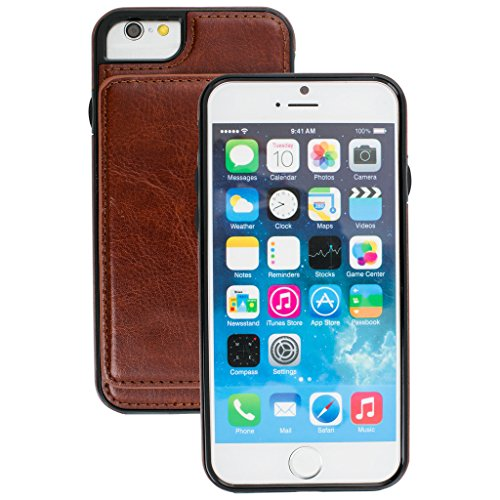 Good Quality Apple iphone 6 Case cover, Apple iPhone 6 Brown Designer 2-1 Multi-function Detachable Magnetic 3 Card Slots Wallet Style Wallet Case Cover