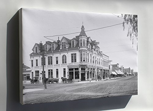 Canvas 24x36; Exterior View Of The Bank Building At The Corner Of Third Street And Broadway, Santa Monica, - Santa Monica Third Street