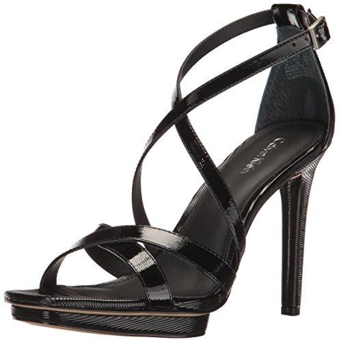 Calvin Klein Women's Vonnie Dress Sandal, Black, 7.5 M US by Calvin Klein