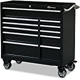 "Montezuma Tool Box - 41"" 11-Drawer Roller Cabinet with 20 Gauge Steel Construction & Black Powder Coat Finish -  BK4111TC"