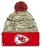 Kansas City Chiefs New Era 2015 Salute To Service On-Field Pom Knit Hat-10374