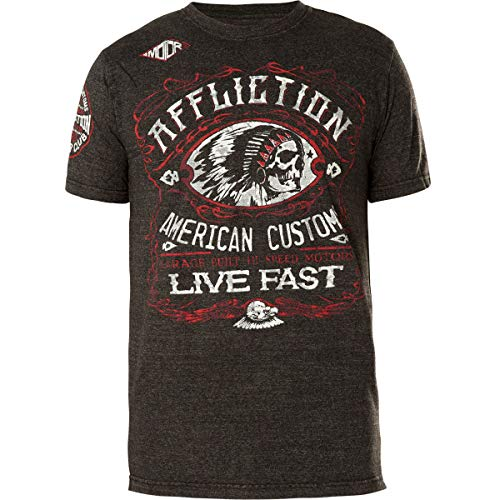 - Affliction Men's AC Moonshine Black Lava Wash Short Sleeve Tee (Large)