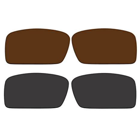 9c9f2ab84e Amazon.com  ACOMPATIBLE Replacement Polarized Bronze Brown Black Lenses Oakley  Gascan Small (S) Sunglasses  Sports   Outdoors