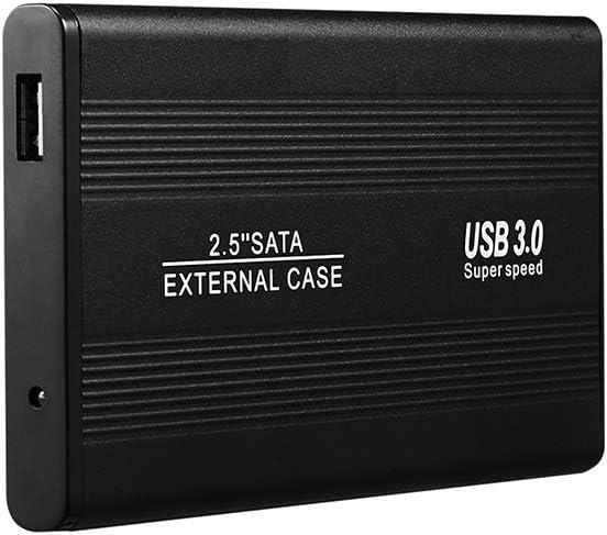外付けハードドライブポータブル、モバイルハードディスク、ウルトラスリム2.5インチPC、Mac、ラップトップ、PS4、500GB / 1TB / 2TBの外付けHDD USB 3.0,黒,2TB
