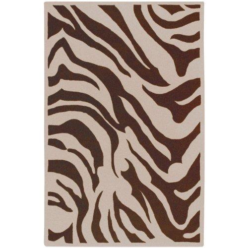 Goa Chocolate (Surya Goa G-169 Contemporary Hand Tufted 100% New Zealand Wool Ivory 9' x 13' Animal Area Rug)