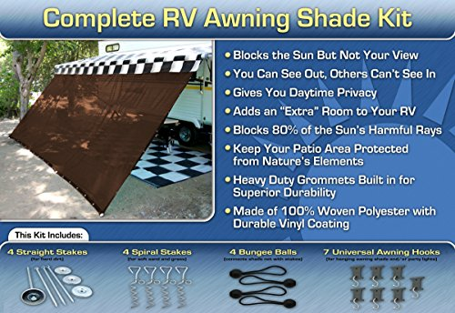 Awning Shade Motorhome Screen Brown product image