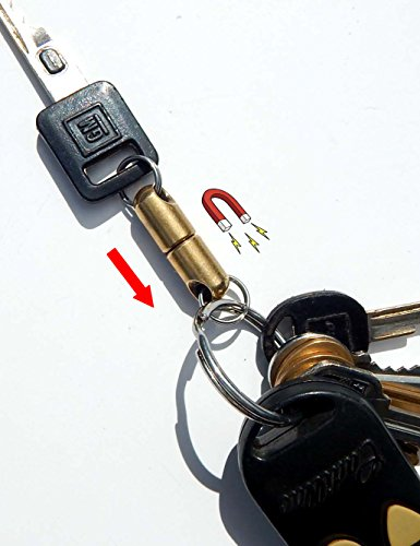 The Original Quick Release Detachable Keychain Magnet | Brass Encased - Pull Ring Key Apart