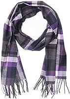Saferin Men Women Winter Plaid Soft Elegant Cashmere Feel Wrap Scarf