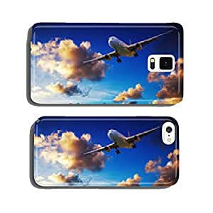 Jet maneuvering in a sunset sky cell phone cover case iPhone6