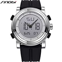 SINOBI Sport Military Digital Analog Man Watch, Waterproof Multifunction Date Watch reloj de los hombres