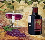 Red Wine and Grapes Decorative Double Switchplate Cover