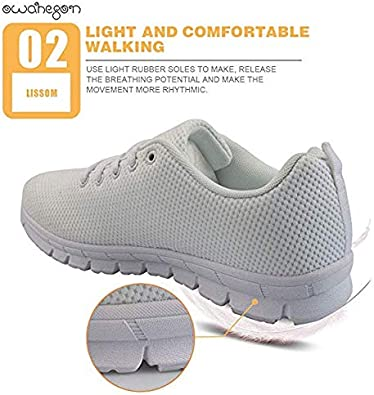 Owaheson Lace-up Sneaker Training Shoe Mens Womens Stork Spread Wings Fly