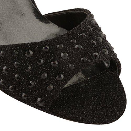 Dolcis - Sandalias de vestir para mujer Negro negro Negro - negro