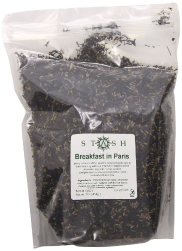 Stash Tea Loose Leaf Tea Breakfast In Paris Black 1 Pound Pouch Loose Leaf Premium Black Tea for Use with Tea Infusers Tea Strainers or Teapots, Drink Hot or Iced, Sweetened or Plain