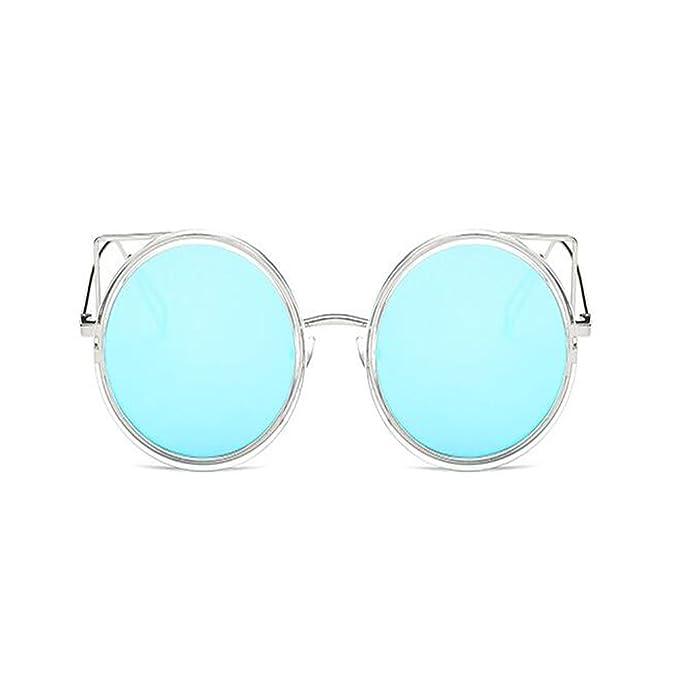 Deylaying Moda Casual Metal Marco Espejo Mujer Gafas de sol ...