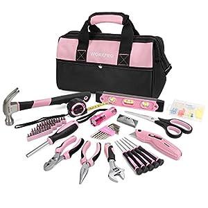 10. WORKPRO 75-piece Pink Ladies' Tool Set