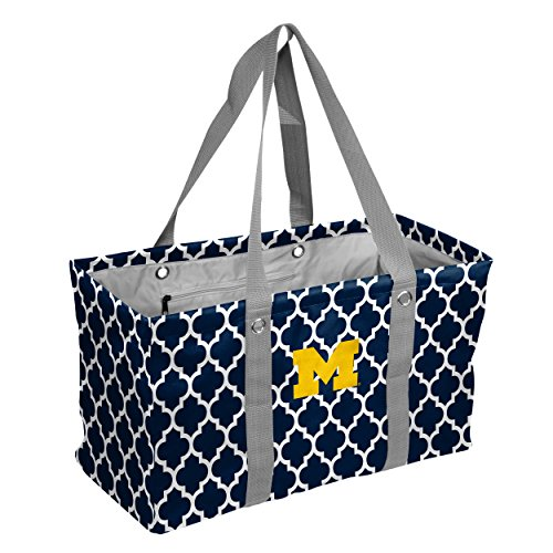 Michigan Wolverines Ncaa Collapsible - Logo Brands Collegiate Large Collapsible Picnic Tote Michigan Wolverines, Navy, One Size