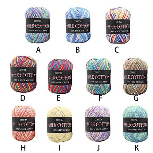 Bien Main Lait Hunpta À Coloré La Crochet Tricoter 50 G zMVSUpq