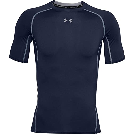 Horno Guardería abajo  Buy Under Armour Heat Gear Armour Short Sleeve Men's Round Neck T-Shirt at  Amazon.in