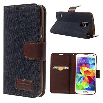 NALIA Funda Libro Compatible con Samsung Galaxy S5 S5 Neo, Carcasa con Tapa Ultra-Fina Flip-Case Book-Cover, Smart-Phone Cubierta Cuero Sintético ...