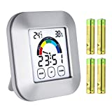 Balight Digital Hygrometers Indoor Thermometer Humidity Mesure Meter Touch Screen Monitor Temperature Gauge Indicator Weather Instrument Humidifier Parts Accessories with Hanging Magnet