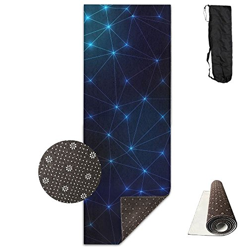 BOBIMU Non-slip Fashion-forward Led Pattern Digital Art Printed Yoga Mat Aerobic Exercise Mat Pilates Mat Baby Crawling Mat With Carrying Bag Great For Man/Women/Baby