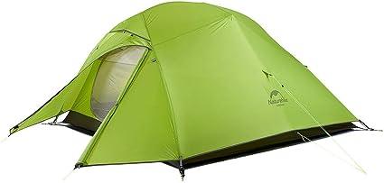 Naturehike Nouveau Cloud-up 3 Tente Randonn/ée 3 Personnes Double Couche Tente 4 Saison Camping Tente