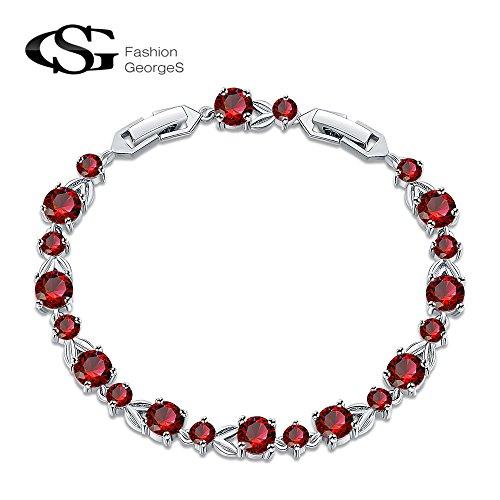 Platinum Plated Zirconia Bracelet Mothers