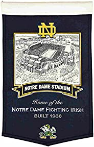 "Notre Dame Fighting Irish WS Notre Dame Stadium Football Wool Banner (15"""