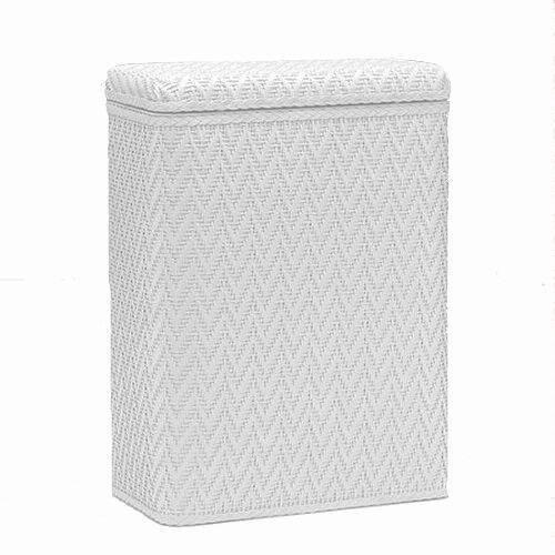 Redmon Elegante` Collection Decorator Color Wicker Hamper, White (Color Wicker)