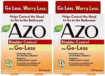 Azo Bladder Control >> Azo Bladder Control 54 Capsules 2 Pack By Azo