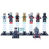 New Fun Mini Toys for Children Kids Iron Man Iron Patriot War Machine Mark 39 Gemini Minifigures Building Brick Blocks Toy, 9Pcs/Set ABS Plastic Multi-color