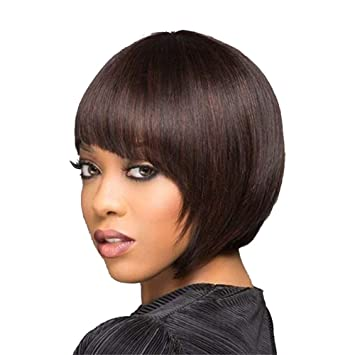 Amazon.com : YIYEZI Short Wavy Bob Human