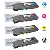 LD © Compatible Alternative for Dell C3760DN / C3760N / C3765NF Set of 4 Toner Cartridges: 1 Black 331-8429, 1 Cyan 331-8432, 1 Magenta 331-8431 and 1 Yellow 331-8430, Office Central