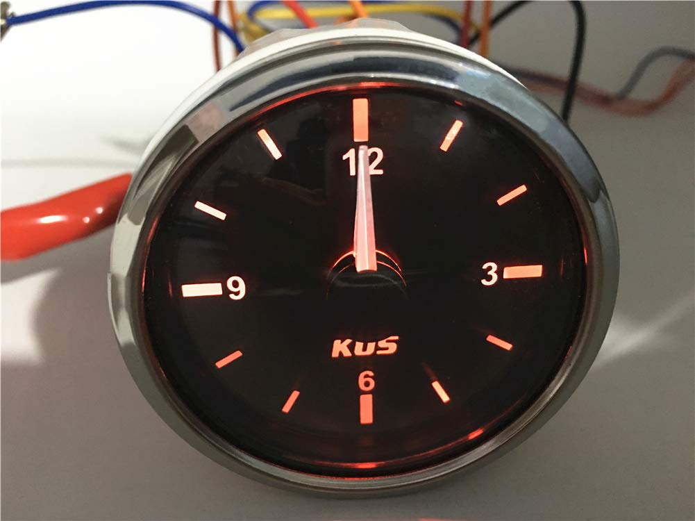 Kadir Koc 1pc Tuning Clock Gauges 52 Clock Meters Hour Gauges with Backlight Black by Kadir Koc (Image #3)