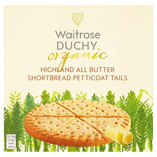 Duchy Waitrose Organic Highland All Butter Shortbread Petticoat Tails 125g (Pack of 2)