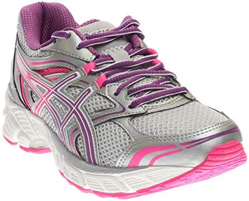 ASICS Women's Gel-Equation 8-W Running Shoe, Silver/Grape/Hot Pink, 5 D US
