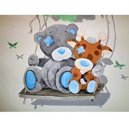 Lovely Cartoon Bear Umbrella DIY Diamond Painting Kit Pictures of Rhinestone