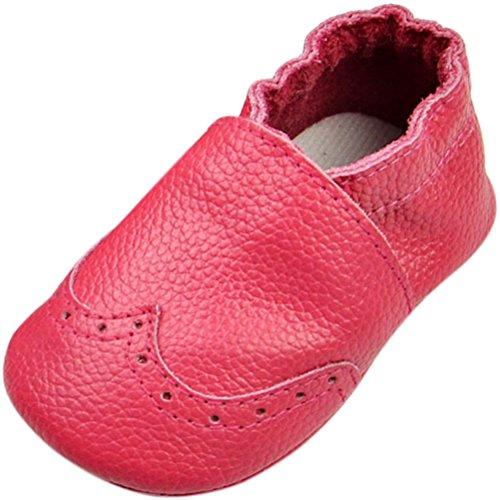 Fire Frog Baby Genuine Leather Shoes - Zapatos primeros pasos de piel auténtica para niño Hot Pink
