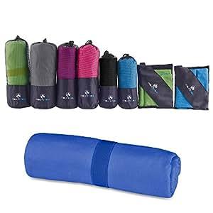 MountFlow Toalla de Microfibra - Toalla Secado Rápido para Natación, Piscina, Viaje, Camping, Deporte, Gimnasio, Yoga, Pilates