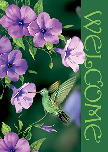 "Morigins Welcome Hummingbirds Double Sided Decorative Spring Summer House Flag 28""x40"""