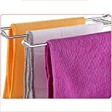 Jitejoe Stainless Steel Washcloth Drying Rack, Home Kitchen Countertop Dishcloth Storage Rack, Z Type, 3 Arms Folding Dishcloth Holder, Hand Towel Stand Rack for Bathroom Sink