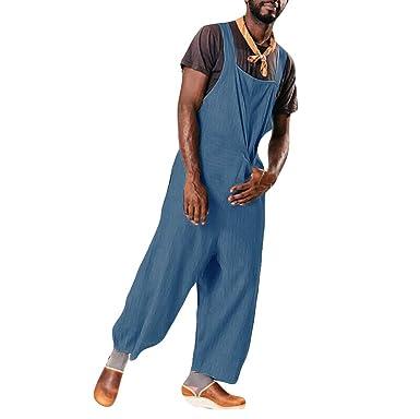 Pantalón Chandal Hombre Mono Jumpsuit Pantalones con Agujeros ...