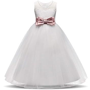 2d78cc30d ChenYongPing Vestido para niños Vestido de Dama de Honor Vestido de Fiesta  para Fiesta de Cumpleaños Vestido de Niños Vestido de Encaje Edad 4-12 ...